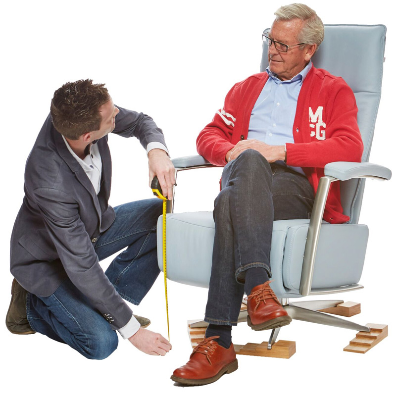 De juiste zithoogte