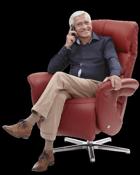 Relaxstoel S 51 leer model 6