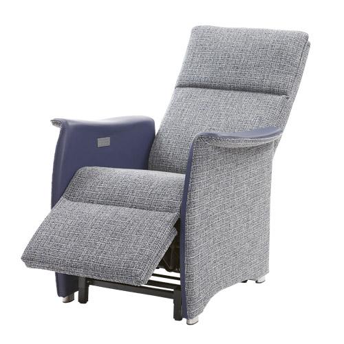 Sta op stoel Vigo L blauw stof leer 1