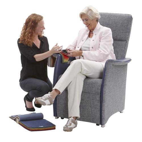 Sta op stoel Vigo L blauw stof leer  advies 9