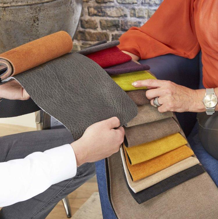 Kies uw eigen kleur leder of stof