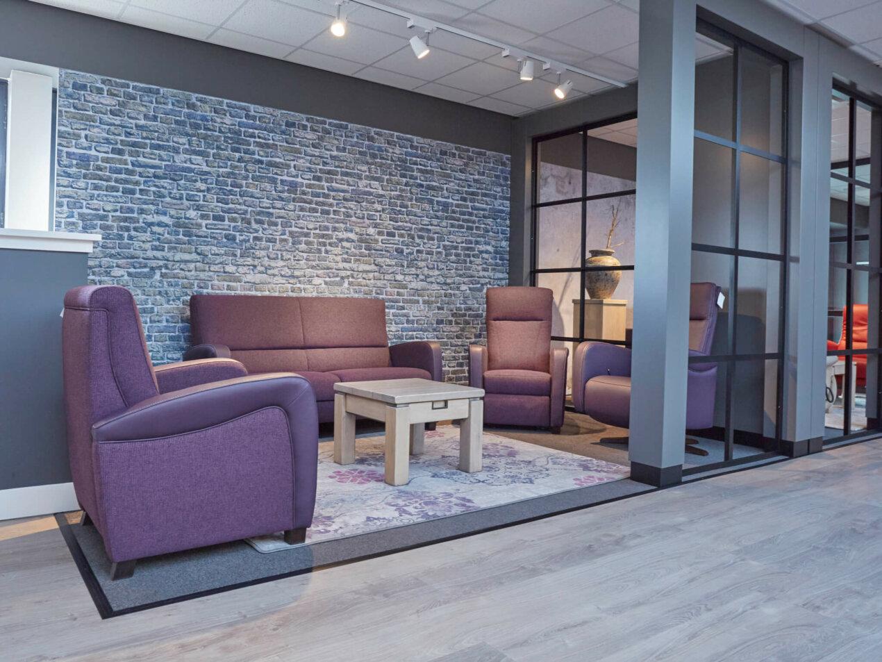 showroom paarse zithoek