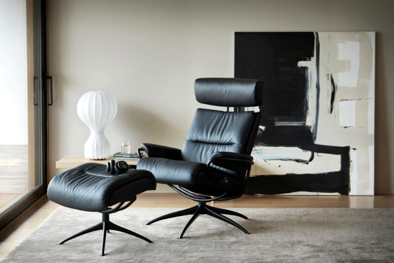 Stressless Tokyo_Low Bkack_Adjustable_Pal_Black_Matte_Black_2